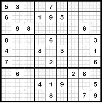 sehr schwierig sudoku